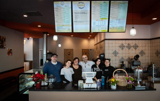 The staff at Bread Bites in Okemos, pictured Wednesday, Jan. 8, 2020.  The Mediterranean bakery and restaurant is family-owned and operated.