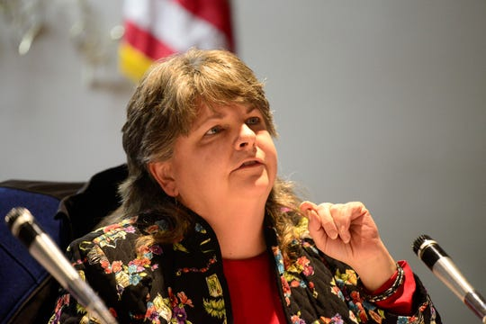 Jean Taddie, 6th Ward Councilwoman, questioned how transferring nine city parks to the Land Bank would affect the parks department's master plan.