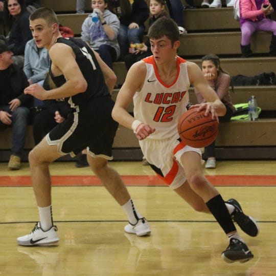 Lucas' Riley Gossom scored 32 points and had six 3-pointers in a win over Central Christian last week.