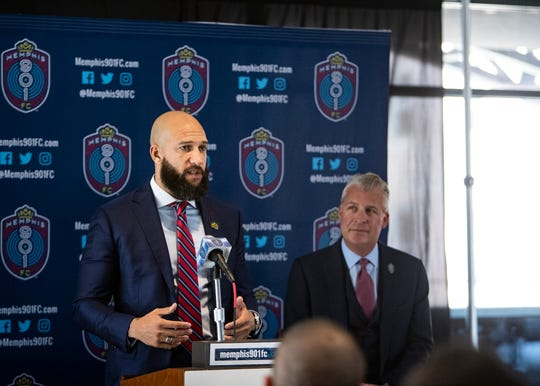 Memphis 901 FC announced Tim Howard as its new sporting director at a press conference Wednesday.