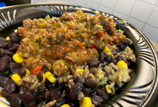 """The Beyond meat """"Tropichop"""" from Pollo Tropical, South Naples."""