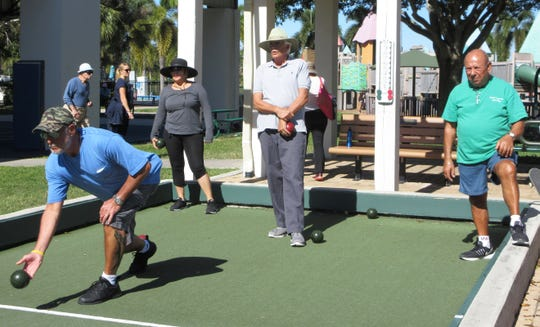 The Italian American Society of Marco Island spent the afternoon of Jan. 6 playing bocce at Mackle Park. It was a picture perfect day to begin the season with cool temperatures and plenty of sunshine. The club will play every week and all members are welcomed. For more information, call Peter Pareene at 518-339-1612 or visit iasmi.org. Above: Bob Hulnick, Alba Turrin, Gary Bourassa and Gus Scola starting out.