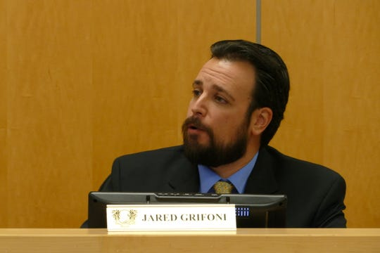 Vice-chair Jared Grifoni speaks at a Marco Island City Council meeting on Jan. 6, 2020.