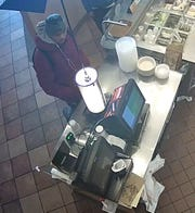 Glendale police are looking for this man, who allegedly knocked over a cash register at Qdoba because his food order was taking too long.