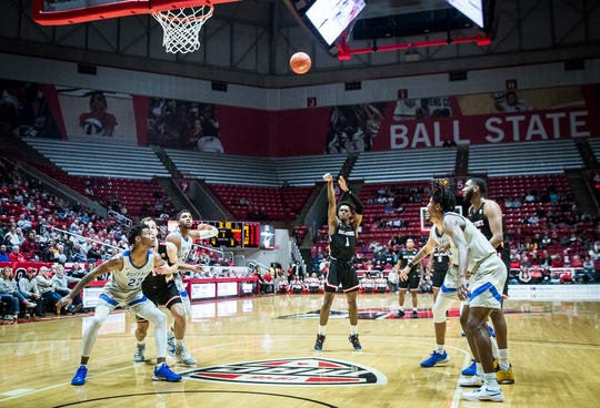FILE -- Ball State basketball competes against Buffalo during a game the Cardinals would win 88-68 at Worthen Arena Tuesday, Jan. 7, 2020.