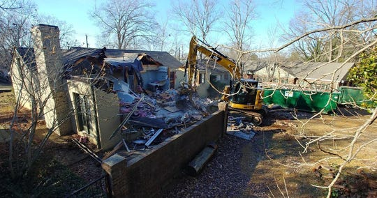 Demolition has started for the  classrooms at the former campus of the O'More College of Design on Jan. 6, 2020.