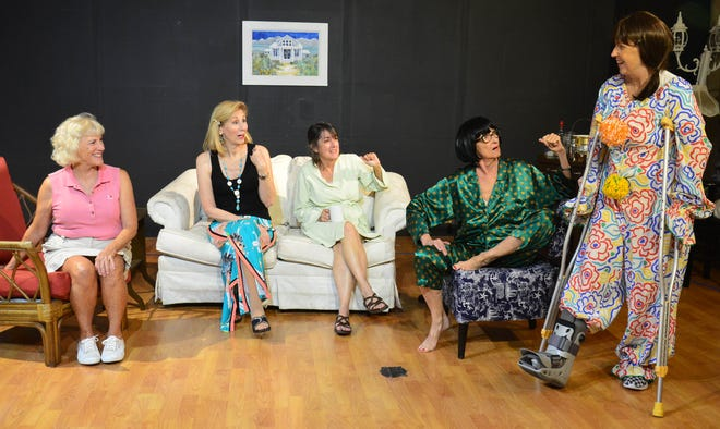 "Left, Kay Wylie-Jacob (Sheree), Patti Caroli (Lexie),  Judy Scribner (Jeri Neal), Carla Grieve (Dinah) and Rhonda Davis  (Vernadette) in 'The Dixie Swim Club"" on Marco Island."