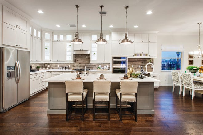 Palazzo at Naples is offering its final homes, including a 3,197 square-foot, move-in ready Massiano Provincial featuring four bedrooms, four bathrooms, and a two-car garage, similar to the one shown here.