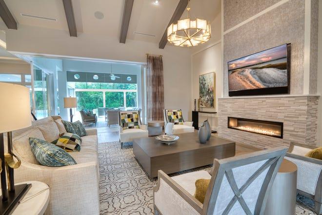 Divco Custom Homes' new Pine Ridge Estates model, the Ridgeway, features interior design by Collins & Dupont.