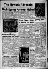 "The front page of The Newark Advocate from Aug. 29, 1963, which was the day after Martin Luther King Jr.'s ""I have a dream"" speech."