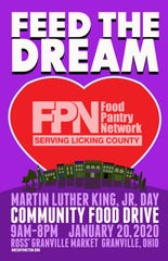 "The official poster promoting this year's ""Feed the Dream"" collection Jan. 20 to benefit the Food Pantry Network."