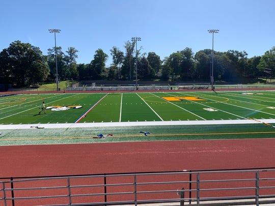 Ramsey High School's track was resurface and its synthetic football field re-turfed during the first year of the district's $42.9 million renovation project.