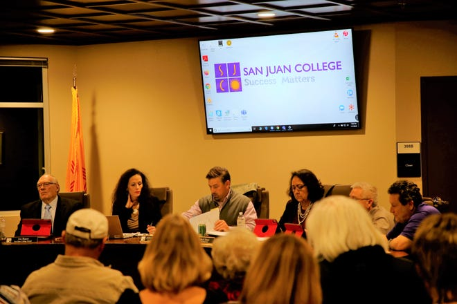 The San Juan College's Board of Trustees meets on the evening of Jan 7, 2020, at the 30th Street Education Center in Farmington.