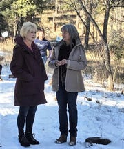 Dee Wallace and Deborah Voorhees on location for the filming of 13 Fanboy.