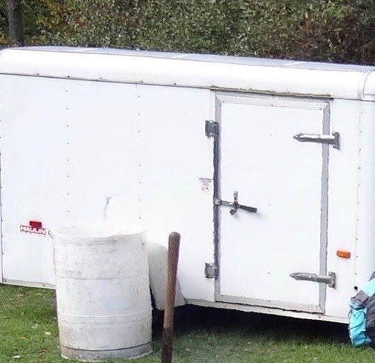 State troopers released this photo of the stolen trailer on social media.