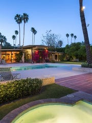 The back of Kirk Douglas's Old Las Palmas home, including a spa. Provided photo by Lance Gerber