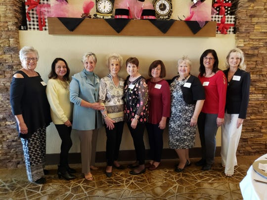 Luncheon attendees included Jackie Collins, Diane Eisendrath, Linda Stirling, Daisy Catchings-Shader, Donna Luke, Michele Paul, Sherrill Schoof, Dianne Swella and Kimber Wilkes.