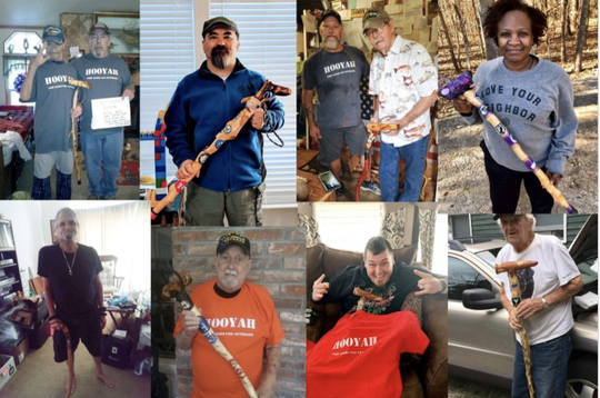 A collage shows veterans who have received canes through Free Canes For Veterans.
