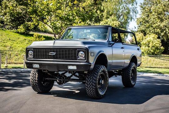 Barker will auction his custom1972 Chevrolet K5 Blazer SUV.