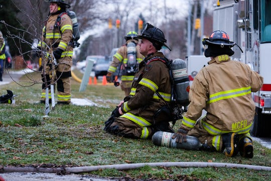 Several fire departments have responded to a house fire on West Boulevard in Marine City Wednesday morning.