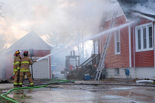 No injuries were reported in a house fire Wednesday morning in Marine City.