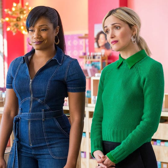 """Tiffany Haddish, left, and Rose Byrne star in """"Like a Boss,"""" opening Thursday at Regal West Manchester, Queensgate Movies 13 and R/C Hanover Movies 16."""
