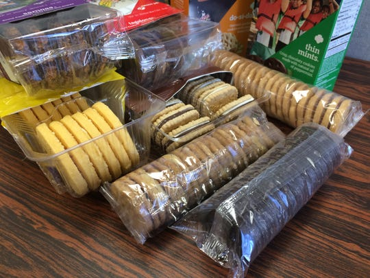 Girl Scouts are selling eight varieties of cookies this year.