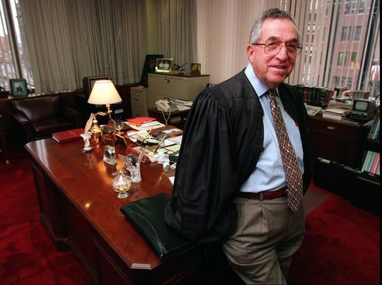 Judge Michael Telesca in 1995.