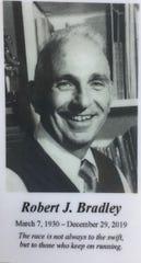 Bob Bradley memorial card.
