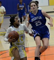 Wicomico guard Leyanna Pettit looks to the basket on Tuesday, Jan. 7, 2020.