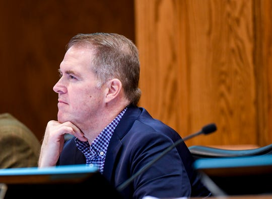 Councilor Pat Starr attends a Sioux Falls City Council meeting on Tuesday, Jan. 7, 2020 at Carnegie Town Hall.