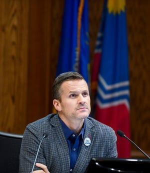 Mayor Paul TenHaken attends a Sioux Falls City Council meeting on Tuesday, Jan. 7, 2020 at Carnegie Town Hall.