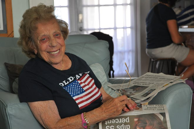 """Josephine """"Jo"""" Naspinski, a Tallahassee woman who has been honored for her  volunteer work, is turned 100 on Jan. 13."""