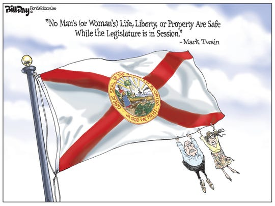 """No Man's (or Woman's) Life, Liberty, or Property Are Safe While the Legislature is in Session."" - Mark Twain"
