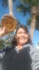 Jayne Wilson, of Sebastian, wanted her mid-April 2019 discovery on shoreline north of Vero Beach to be a porcelain plate from a sunken Spanish ship but it turned out to be WWII-era land mine taken away by military bomb experts Wednesday, Jan. 8, 2020.