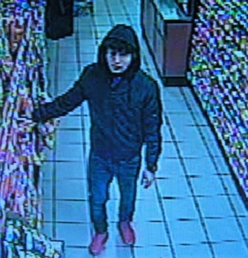 Security camera image of suspect in beer robbery at the Circle K, 7660 N. Mesa St. in West El Paso on Saturday, Jan. 4, 2020.