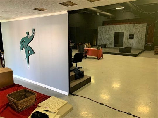 "The new no-frills live theater venue in Simi Valley shown last week. Jan Glasband, artistic director of the Actors' Repertory Theatre of Simi, says ARTSpace will be ready for its debut Saturday with a production of  John Steinbeck's ""Of Mice and Men."""