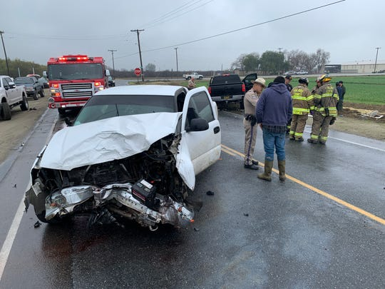 A head-on collision Wednesday afternoon on Avenue 192 east of Road 152 sent one woman to the hospital with serious injuries.