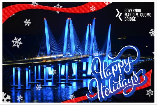 The Progress Update posted on Dec. 19, 2019, on The New New York Bridge website showed the new Gov. Mario M. Cuomo Bridge all lit up for the holidays. But the bridge's LED light displays -- on the towers, cables and supports -- haven't been switched on since Nov. 11, Veterans Day. A week later, TZC filed a $900 million lawsuit against the New York State Thruway Authority, seeking more money and documents from the transit agency.