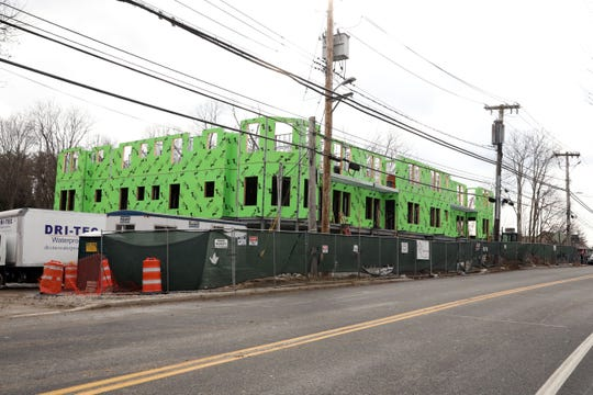 Construction continues on a mixed-use retail and residential development in Chappaqua Jan. 8, 2020. The building will have 14 rentalÊapartments and ground floor retail space.