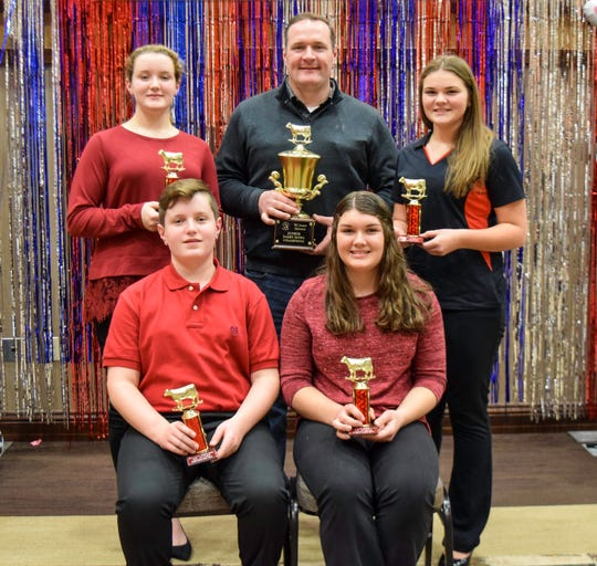 The Wood County junior Dairy Bowl  team consisting of Wyatt Dorshorst, Sarah Dorshorst, Emma Bangart and Maddie Hensel will represent Wisconsin at the National Holstein Convention in Lancaster, Pa. in June 2019.