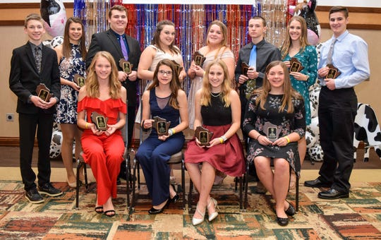 A dozen younger members were awarded the Young Distinguished Junior Holstein Members honor. Those receiving the award include: Ashley and Colton Brandel, Jefferson County; Ava Endres, Dane County; Cathryn and Christopher Gunst, Waupaca/Waushara County; Elizabeth Gunst, Dodge County; Jacob Harbaugh, Shawano County; Kaydence Hodorff, Fond du Lac County; Emiliy Stumpf, Fond du Lac County; Kaelyn Weigel, Grant County; Kenadee Weigel, Grant County; and Grady Wendorf, Dodge County.