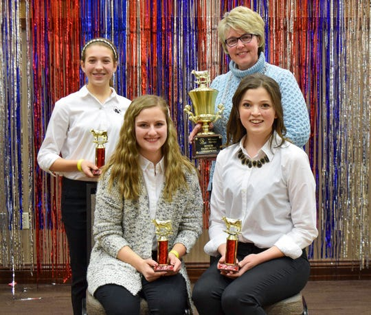 The Manitowoc/Calumet County Dairy Bowl team comprised of Clarissa Ulness, Garrett Ulness, Lauren Siemers and Brianna Meyerwill represent Wisconsin at the National Holstein Convention in Lancaster, Pa. in June 2019.