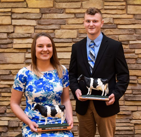 University of Wisconsin Madison students Kalista Hodorff and Colin Uecker were named Outstanding Holstein Boy and Girl during the 2020 Wisconsin Junior Holstein Convention held Jan. 3-5 in Stevens Point, Wis.