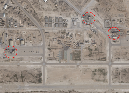 Satellite images of al Assad air base in Iraq taken January 8, 2020 shows damage from Iranian missiles.