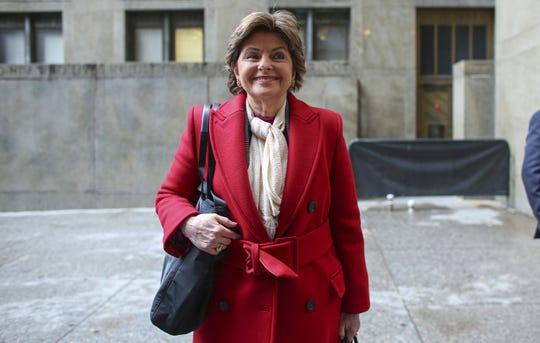 Attorney Gloria Allred on Jan. 6, 2020 in Manhattan for opening of Harvey Weinstein's sex-crimes trial. She represents one of his accusers.