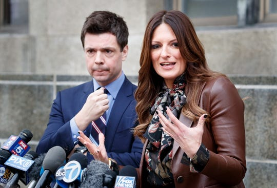 Two of Harvey Weinstein's lawyers, Damon Cheronis and Donna Rotunno, who are defending him at his sex-crimes trial, on Dec. 6, 2019 at the Manhattan courthouse.