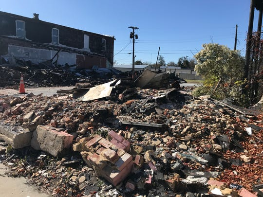 Rubble from a March 2019 fired that destroyed four buildings in downtown Bamberg was not cleaned up until last month.