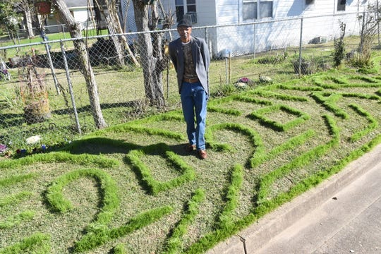 Arthur Brown has been creating unique designs in his yard for 20 years at the beginning of each year.