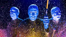 Life in Blue Man Group includes sneezing up paint weeks later